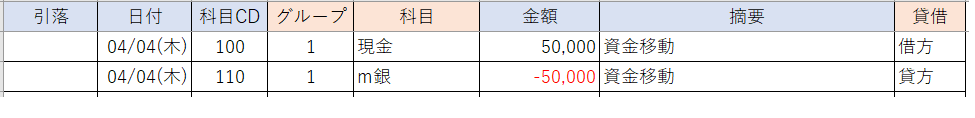 エクセル複式簿記家計簿・仕訳